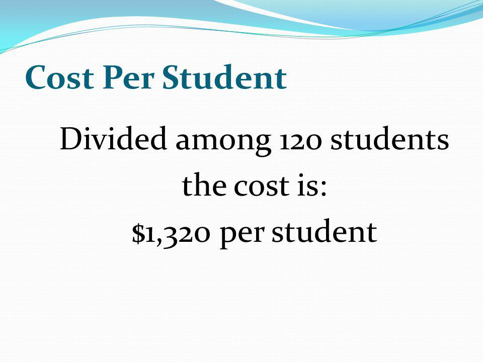 Divided among 120 students