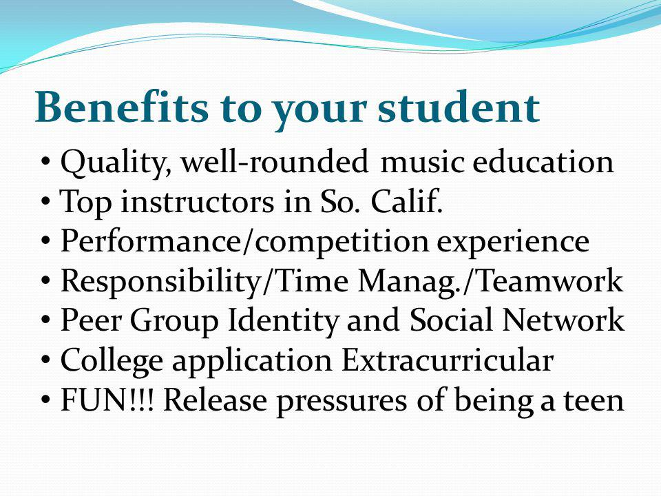 Benefits to your student