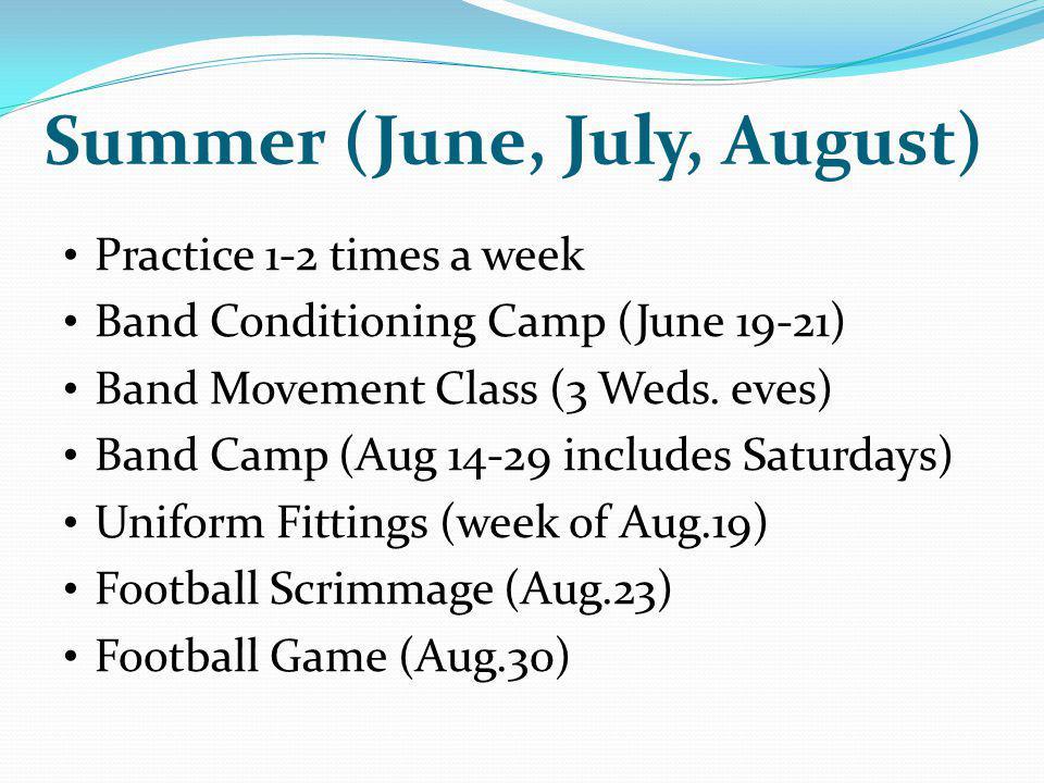 Summer (June, July, August)