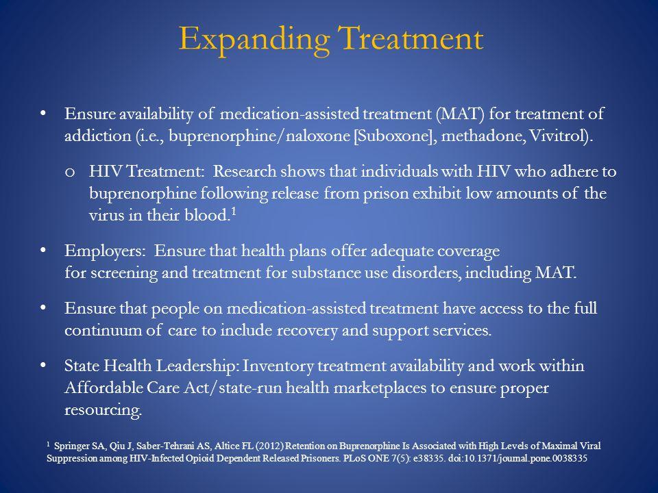 Expanding Treatment