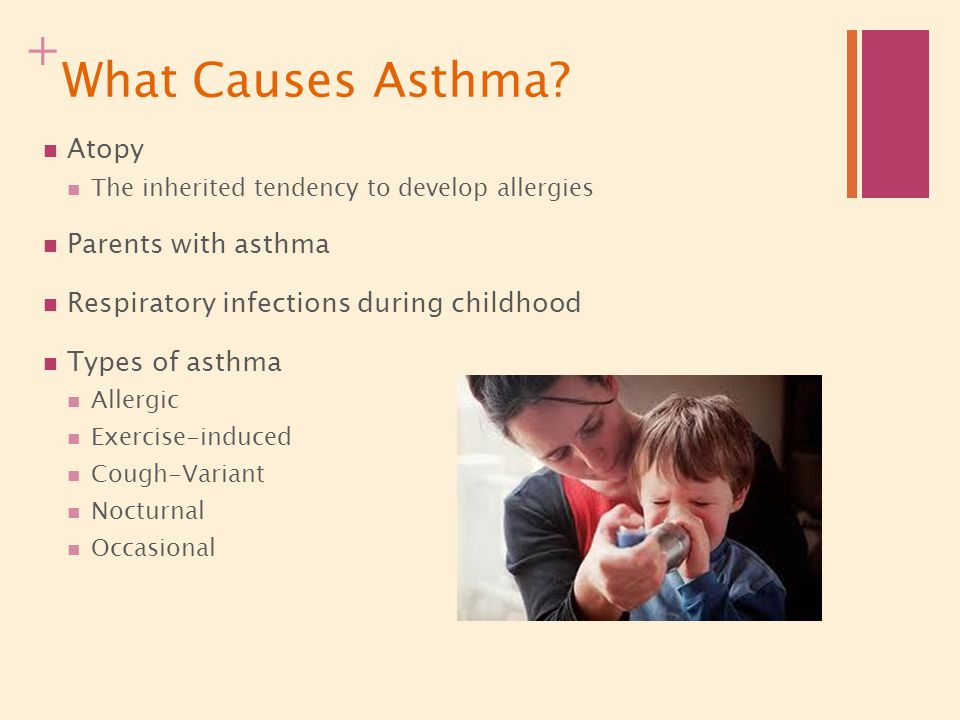 What Causes Asthma Atopy Parents with asthma