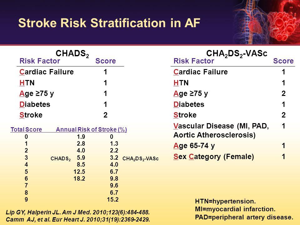 Stroke Risk Stratification in AF