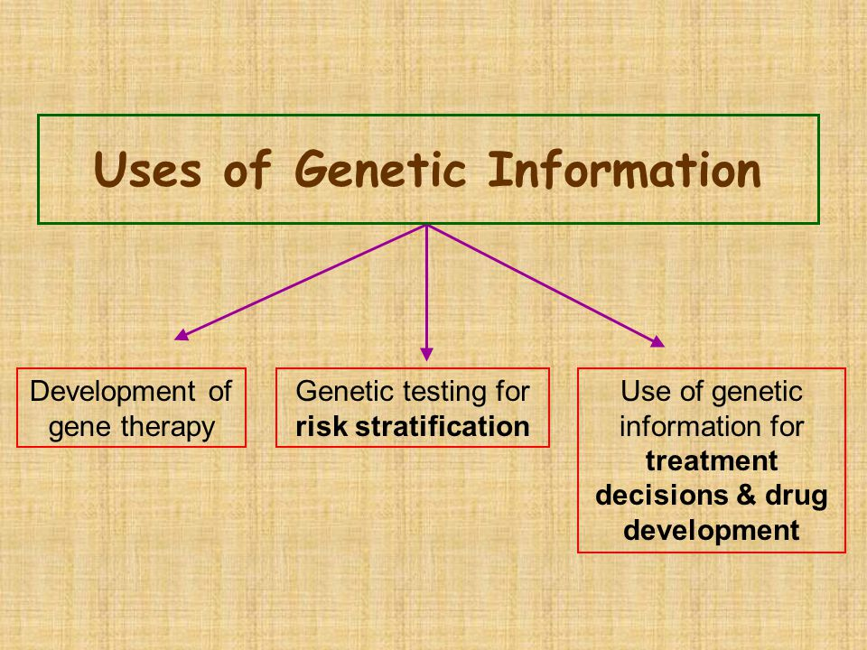 Uses of Genetic Information