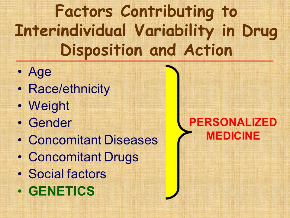 Factors Contributing to Interindividual Variability in Drug Disposition and Action