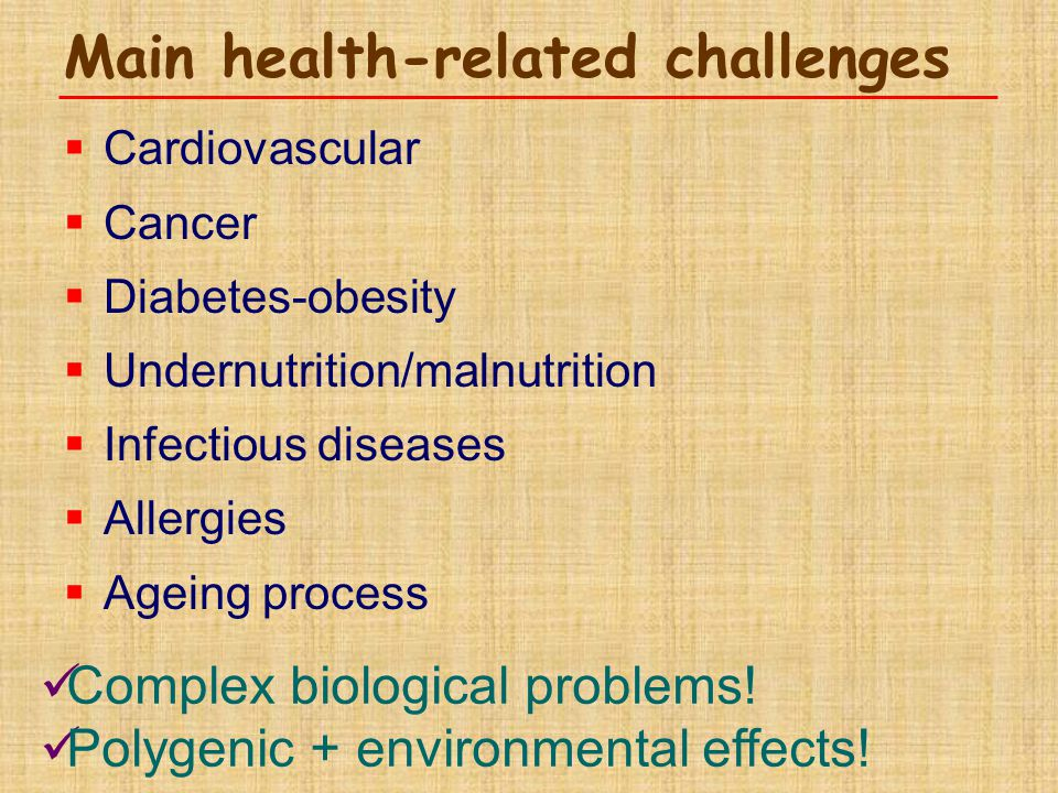 Main health-related challenges