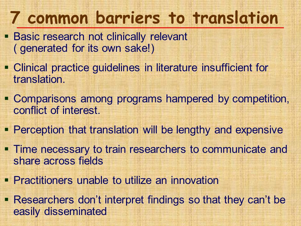7 common barriers to translation