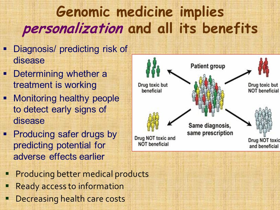 Genomic medicine implies personalization and all its benefits