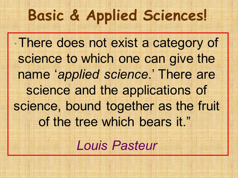 Basic & Applied Sciences!