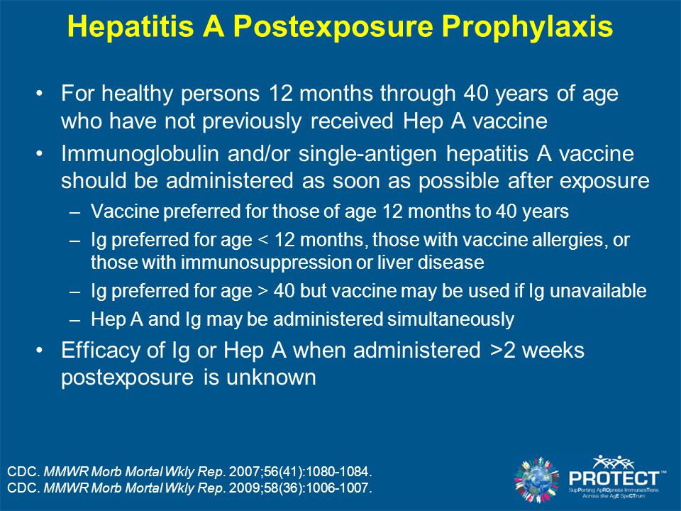 Hepatitis A Postexposure Prophylaxis