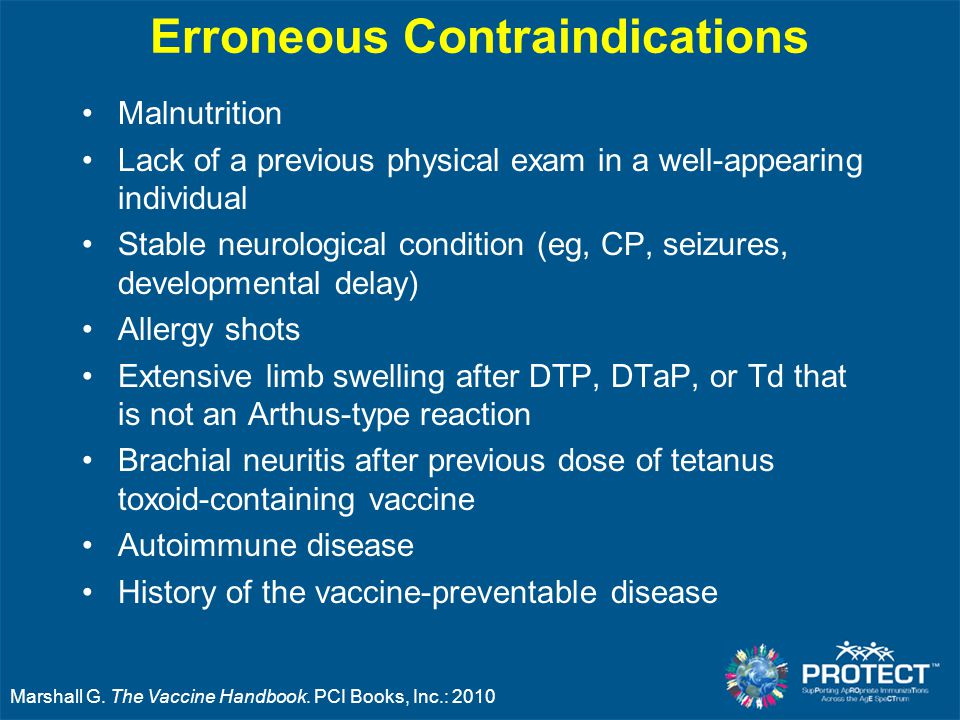 Erroneous Contraindications