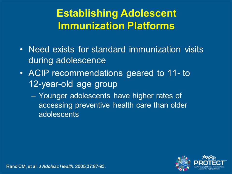 Establishing Adolescent Immunization Platforms
