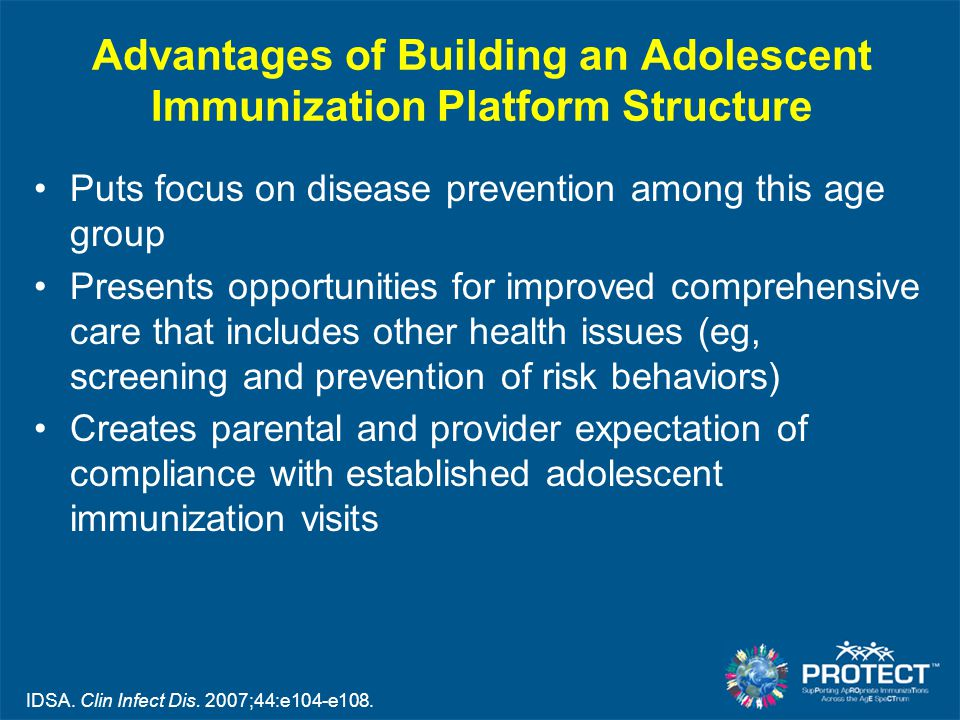 Advantages of Building an Adolescent Immunization Platform Structure