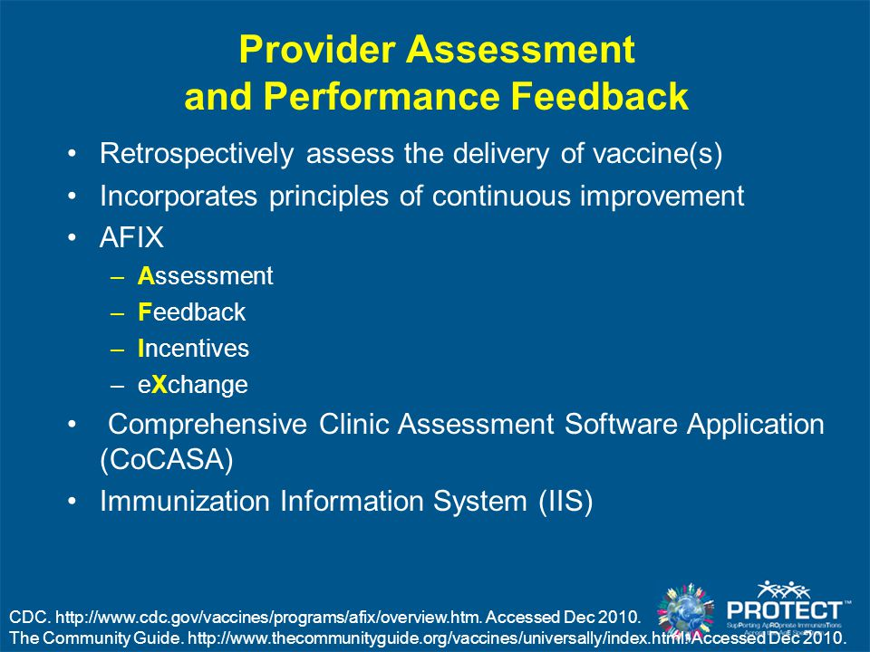 Provider Assessment and Performance Feedback