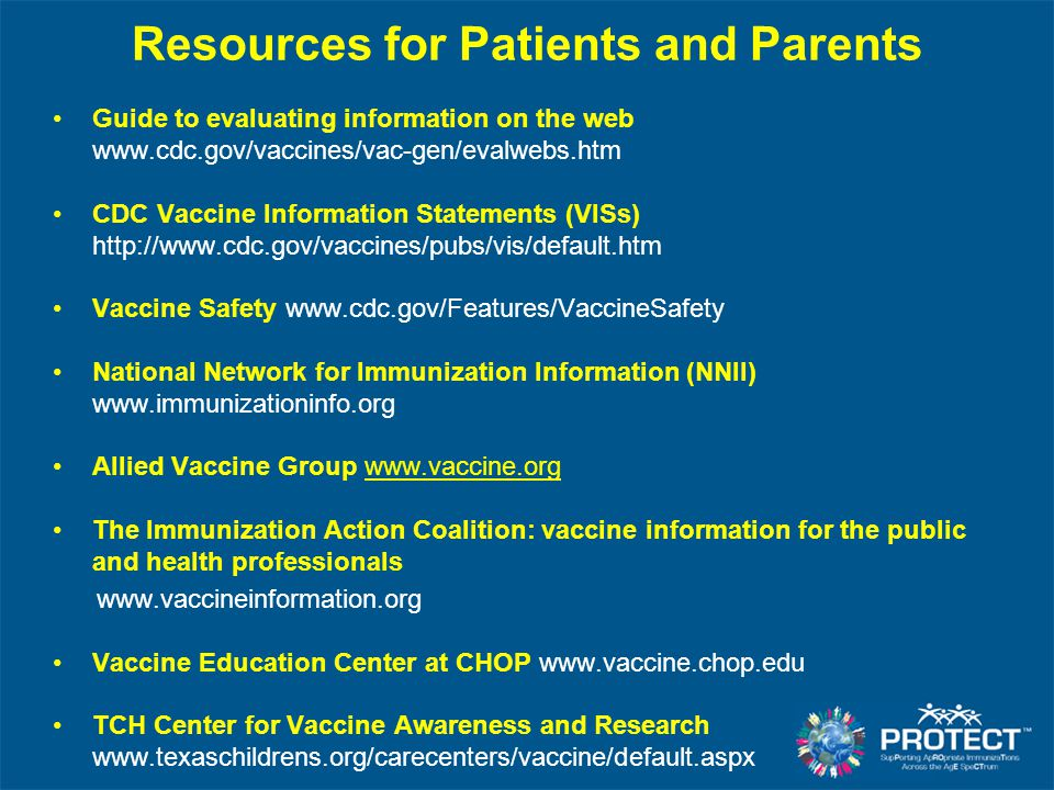 Resources for Patients and Parents