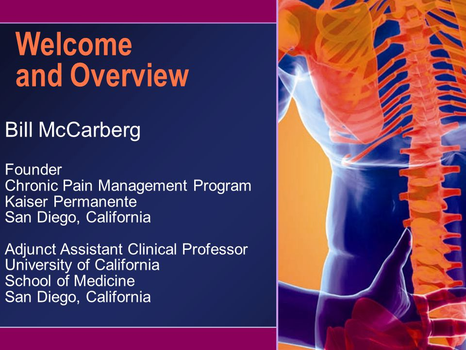 Welcome and Overview Bill McCarberg Founder