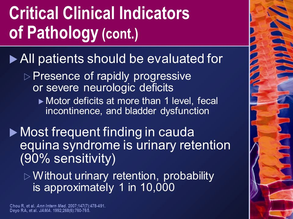 Critical Clinical Indicators of Pathology (cont.)