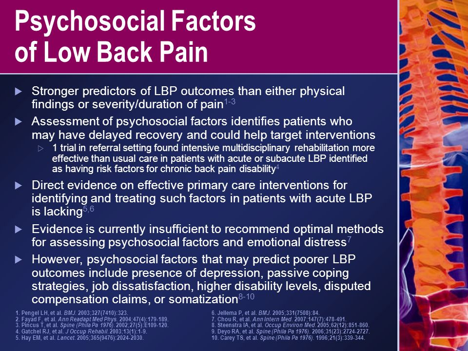 Psychosocial Factors of Low Back Pain