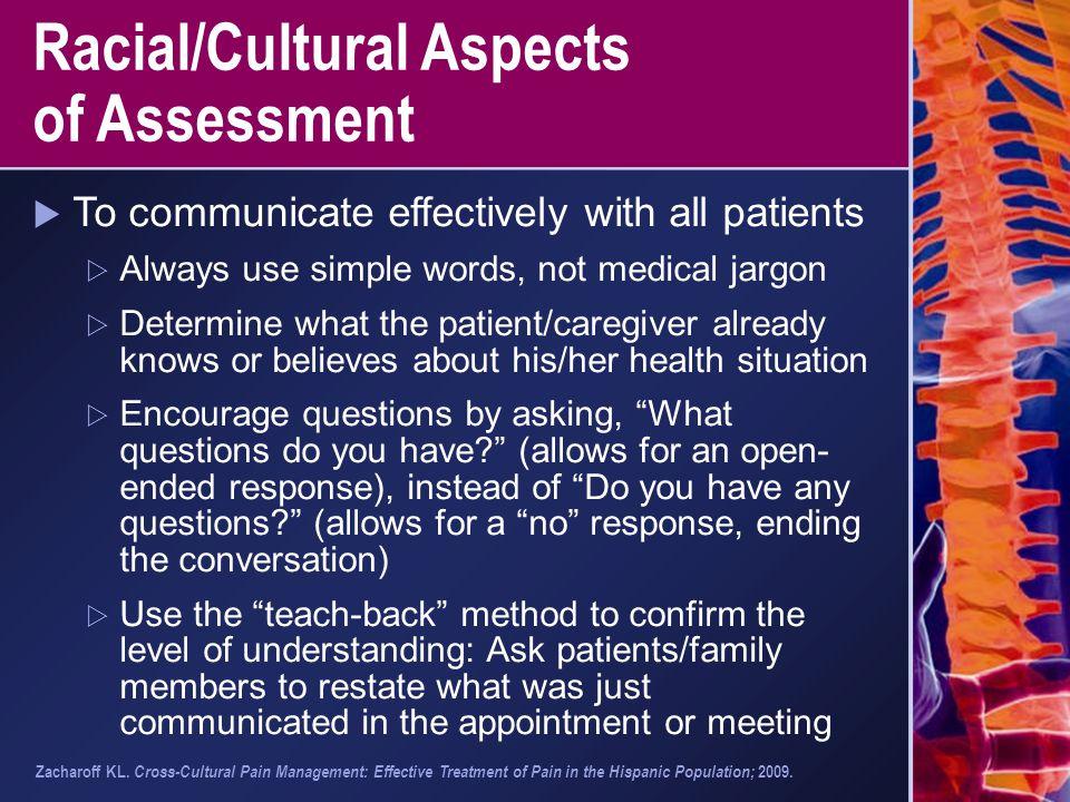 Racial/Cultural Aspects of Assessment