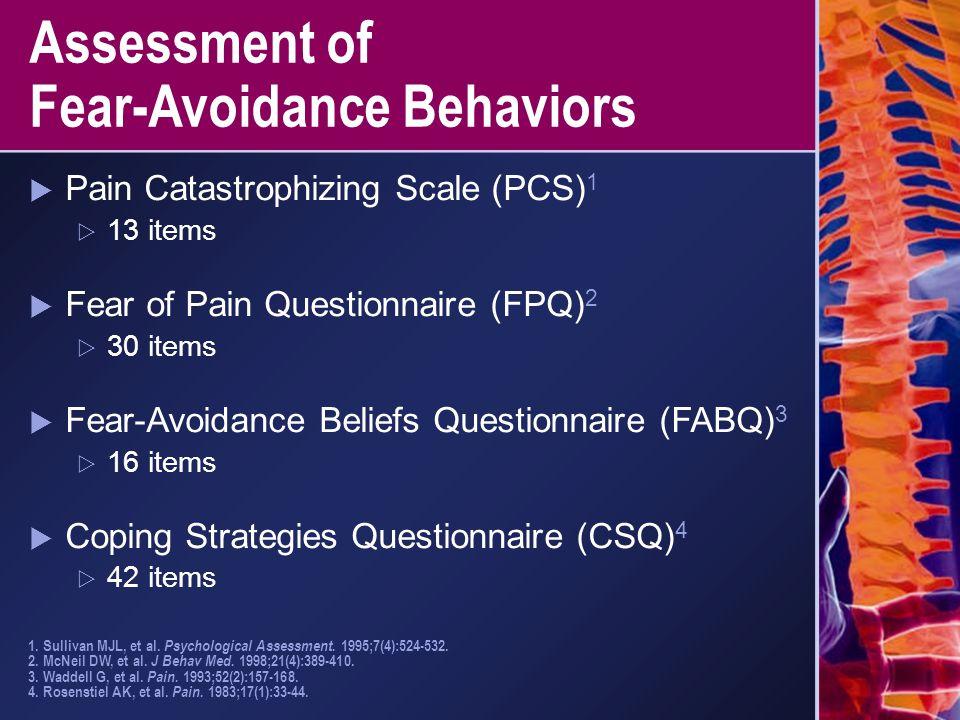 Assessment of Fear-Avoidance Behaviors