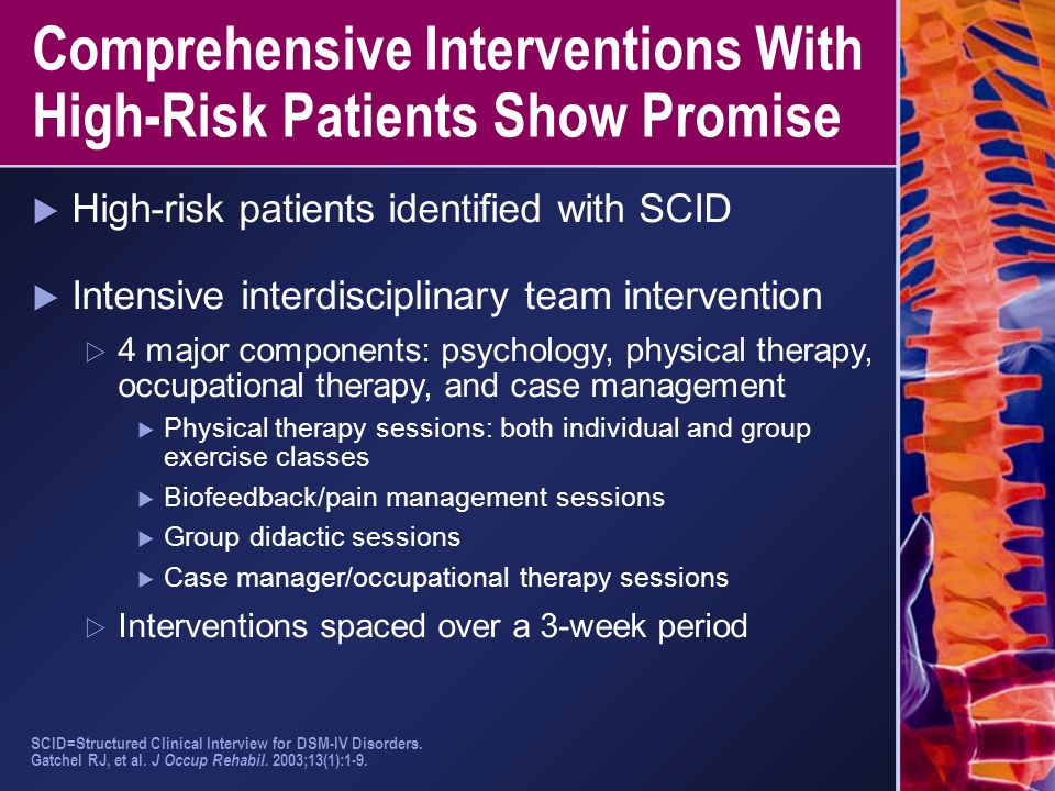 Comprehensive Interventions With High-Risk Patients Show Promise