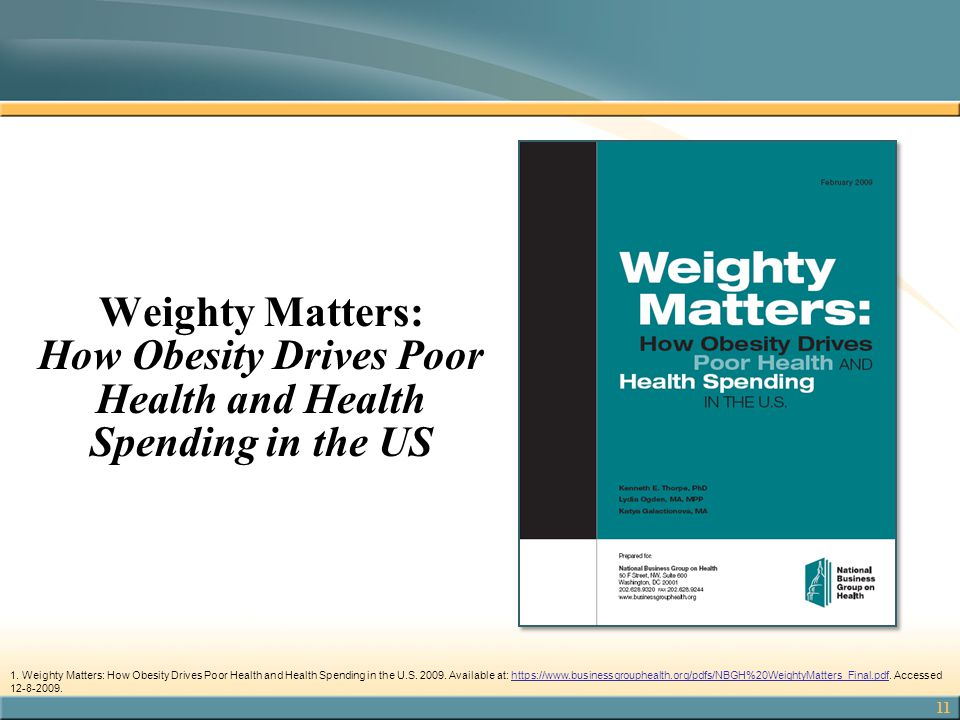 Weighty Matters: How Obesity Drives Poor Health and Health Spending in the US