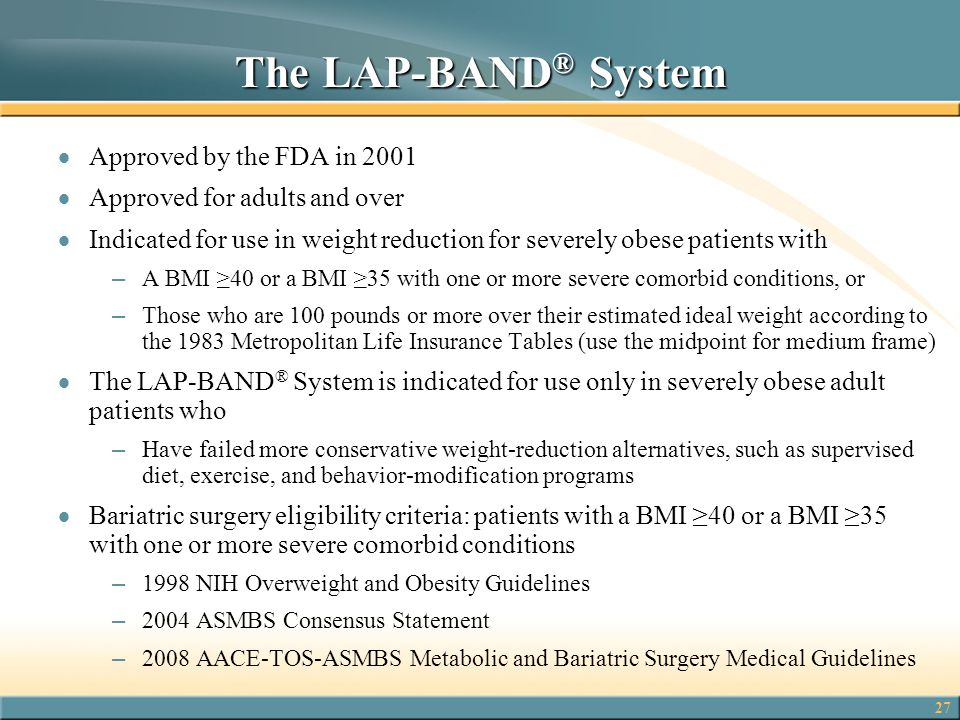 The LAP-BAND® System Approved by the FDA in 2001