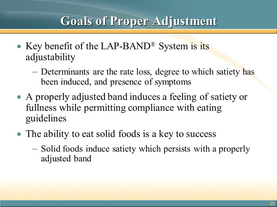 Goals of Proper Adjustment
