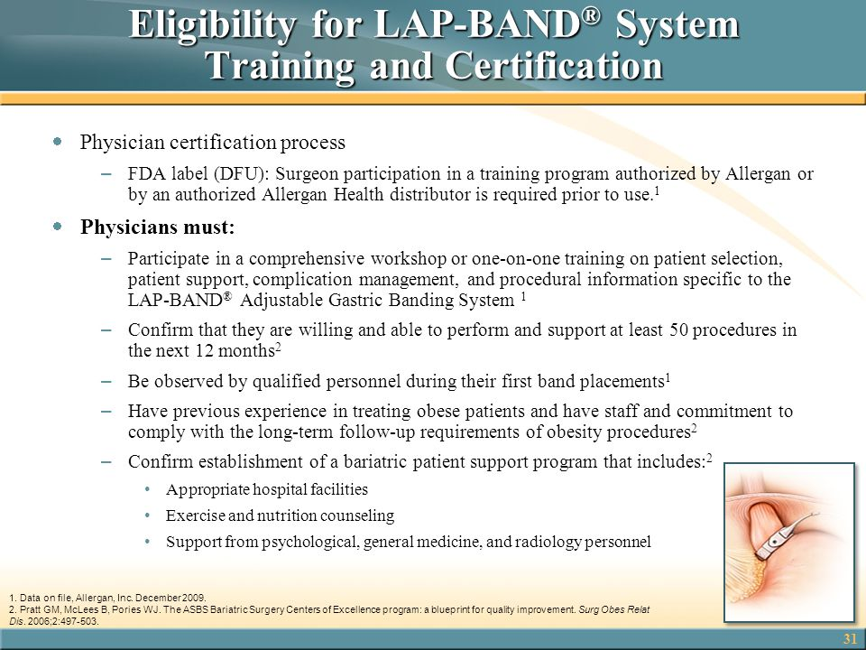 Eligibility for LAP-BAND® System Training and Certification