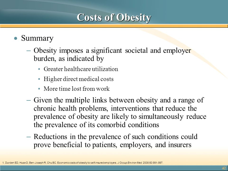 Costs of Obesity Summary