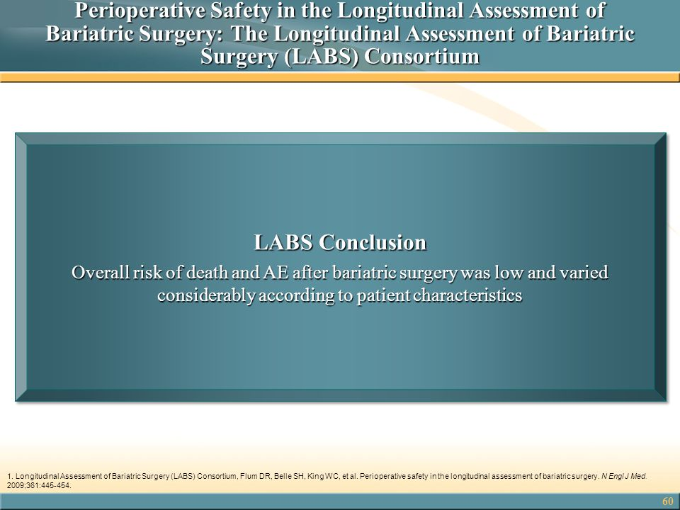 Perioperative Safety in the Longitudinal Assessment of Bariatric Surgery: The Longitudinal Assessment of Bariatric Surgery (LABS) Consortium