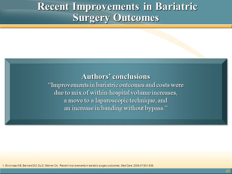 Recent Improvements in Bariatric Surgery Outcomes