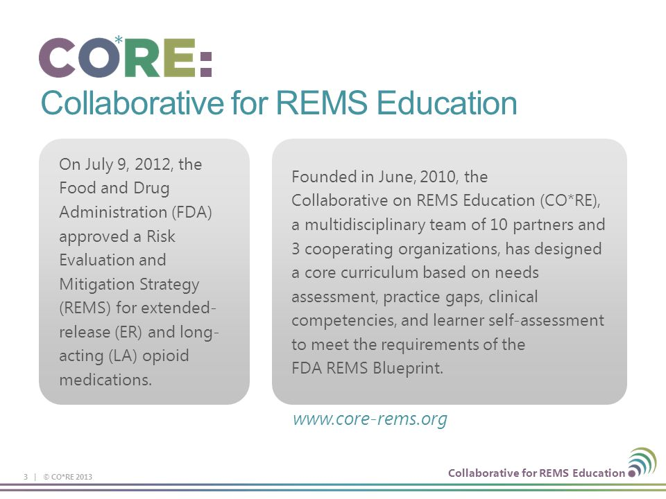 Collaborative for REMS Education
