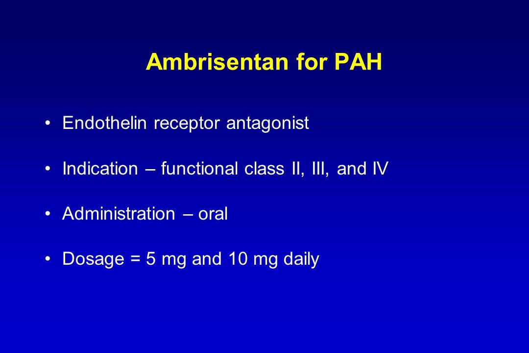 Ambrisentan for PAH Endothelin receptor antagonist