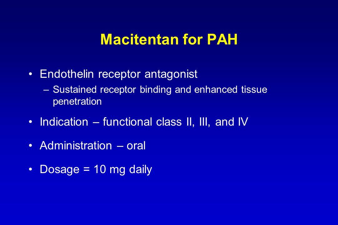 Macitentan for PAH Endothelin receptor antagonist