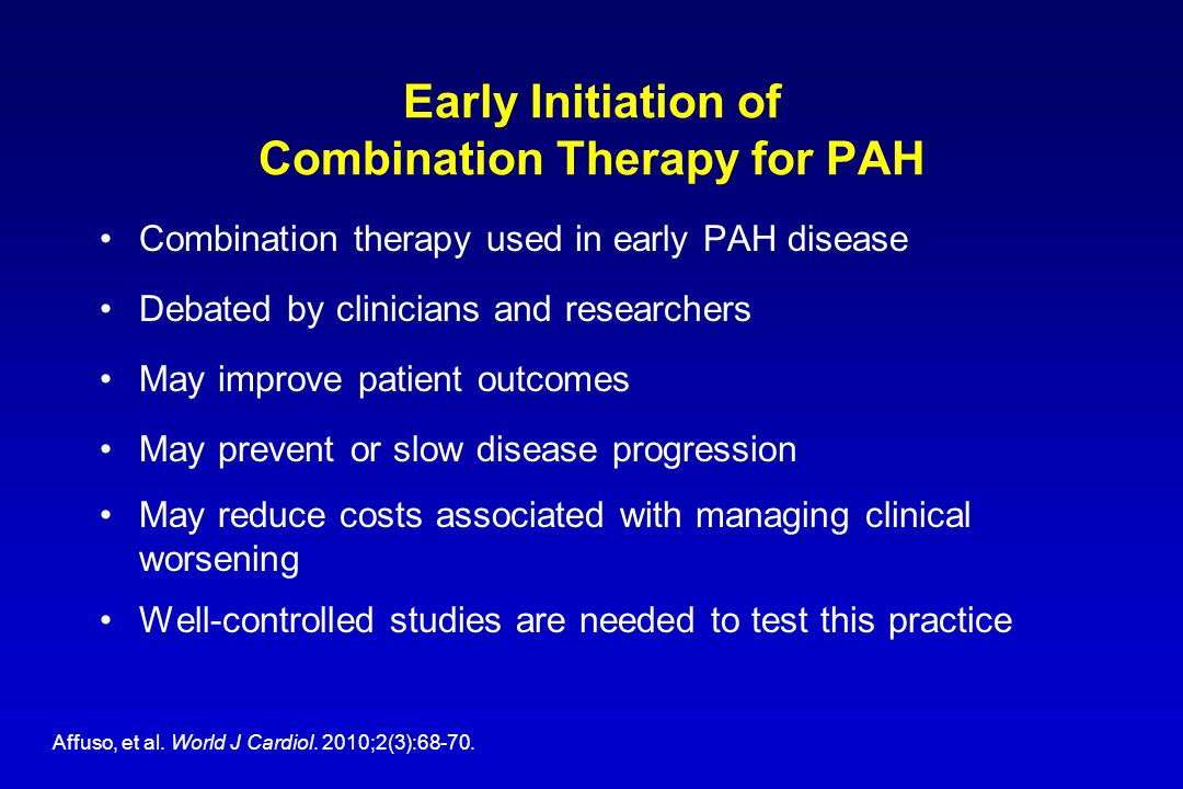 Early Initiation of Combination Therapy for PAH