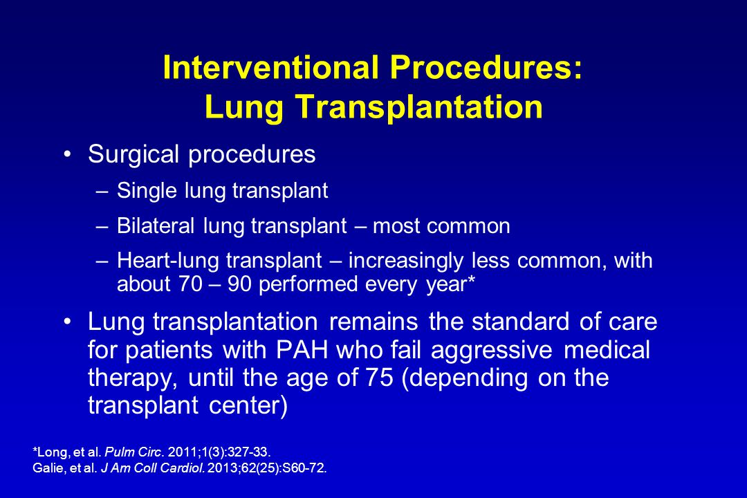 Interventional Procedures: Lung Transplantation