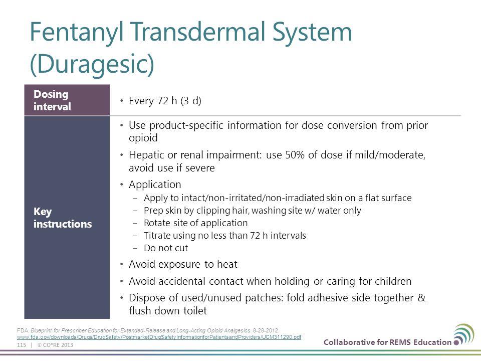 Fentanyl Transdermal System (Duragesic)