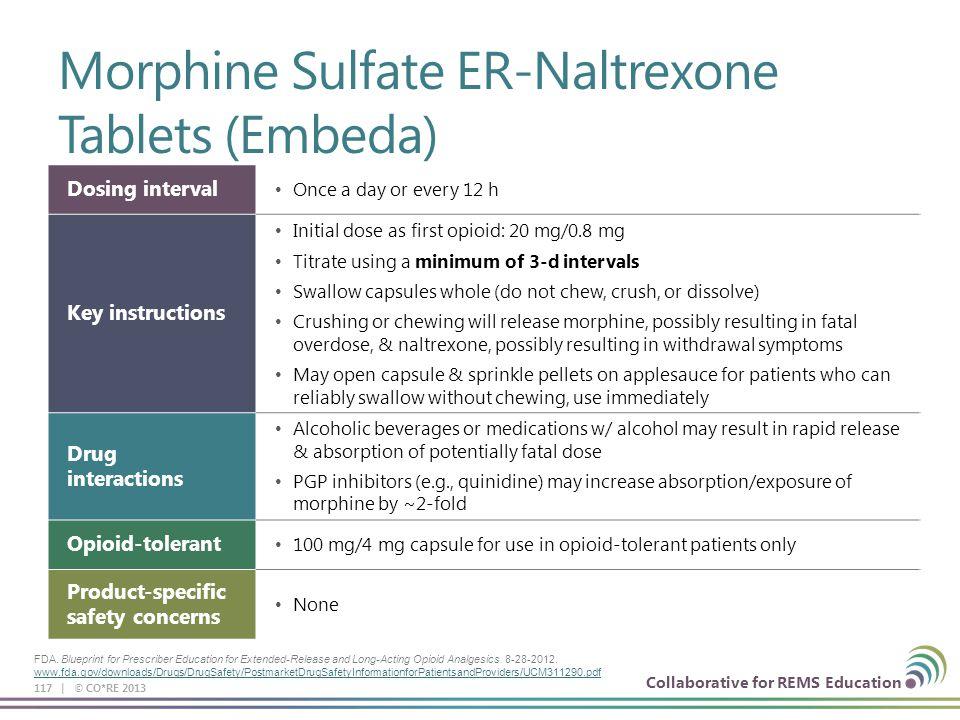 Morphine Sulfate ER-Naltrexone Tablets (Embeda)