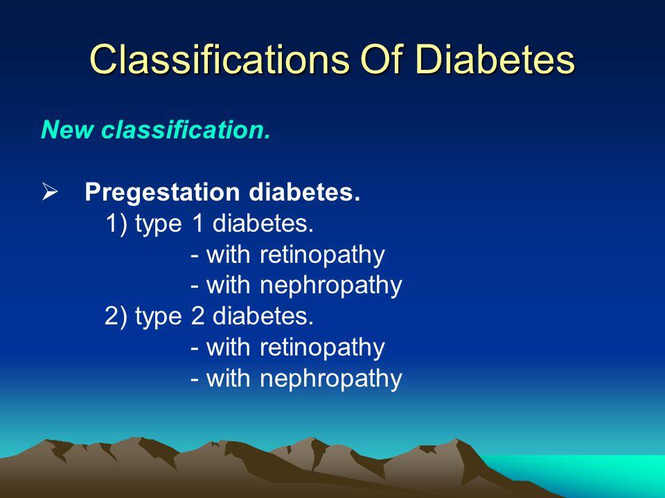 Classifications Of Diabetes