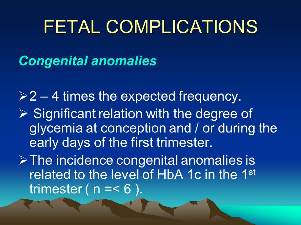 FETAL COMPLICATIONS Congenital anomalies