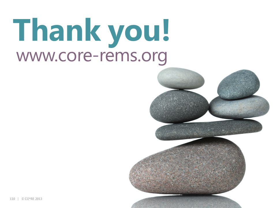Thank you! www.core-rems.org