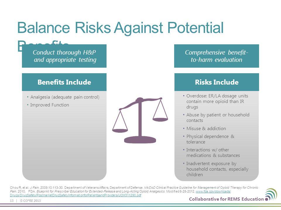 Balance Risks Against Potential Benefits