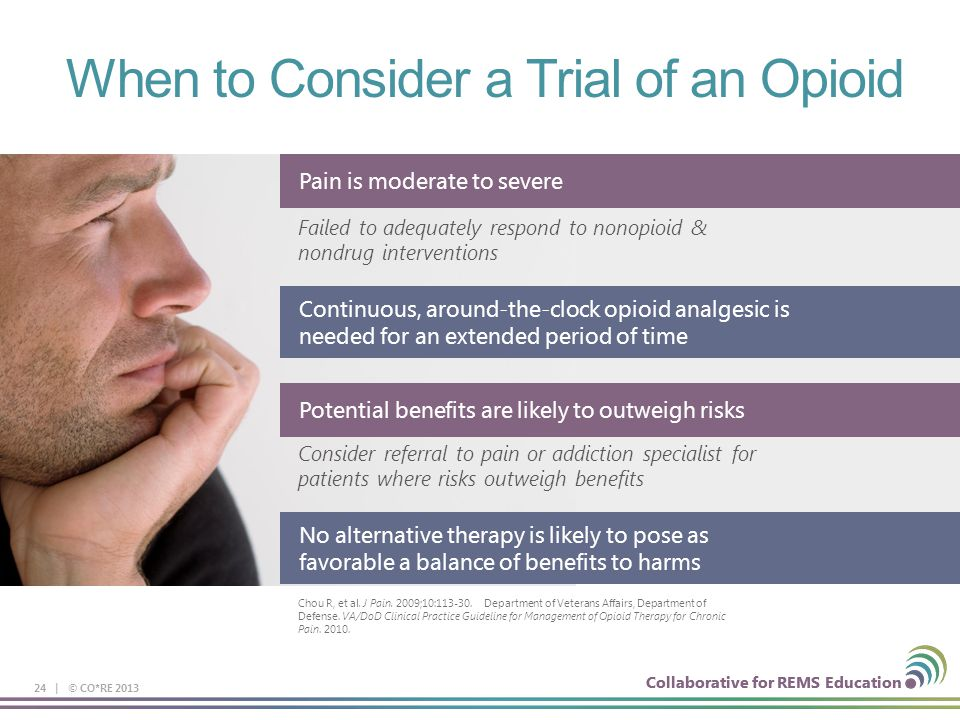 When to Consider a Trial of an Opioid