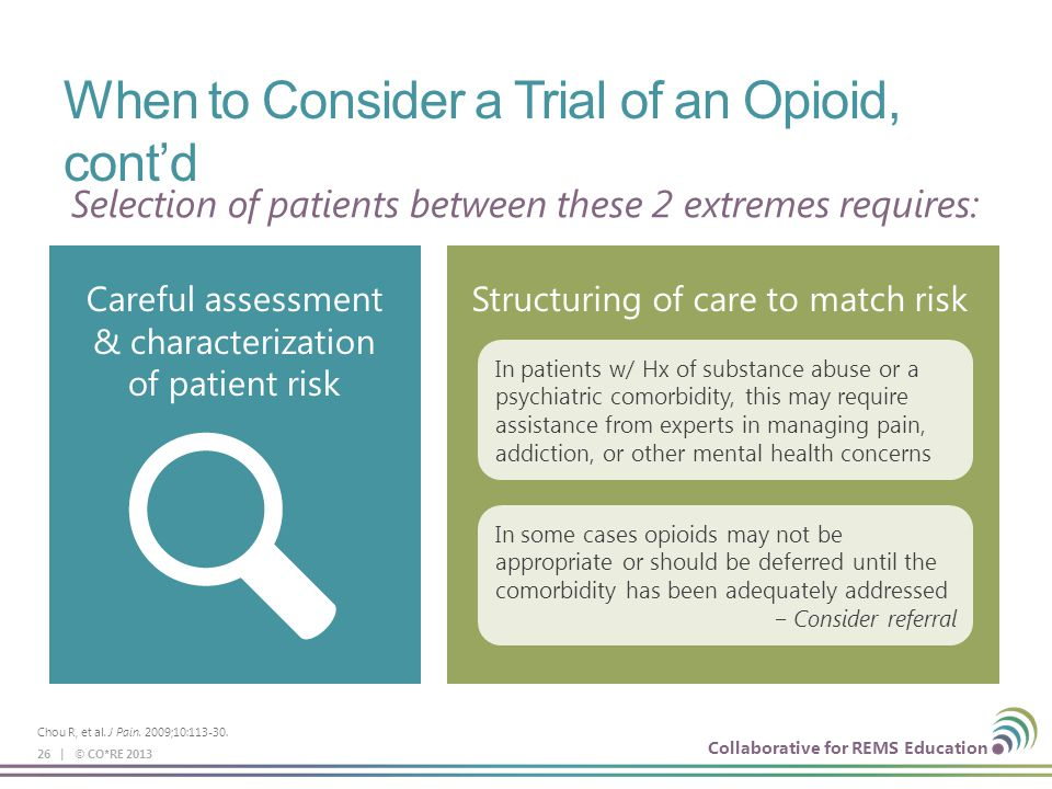 When to Consider a Trial of an Opioid, cont'd