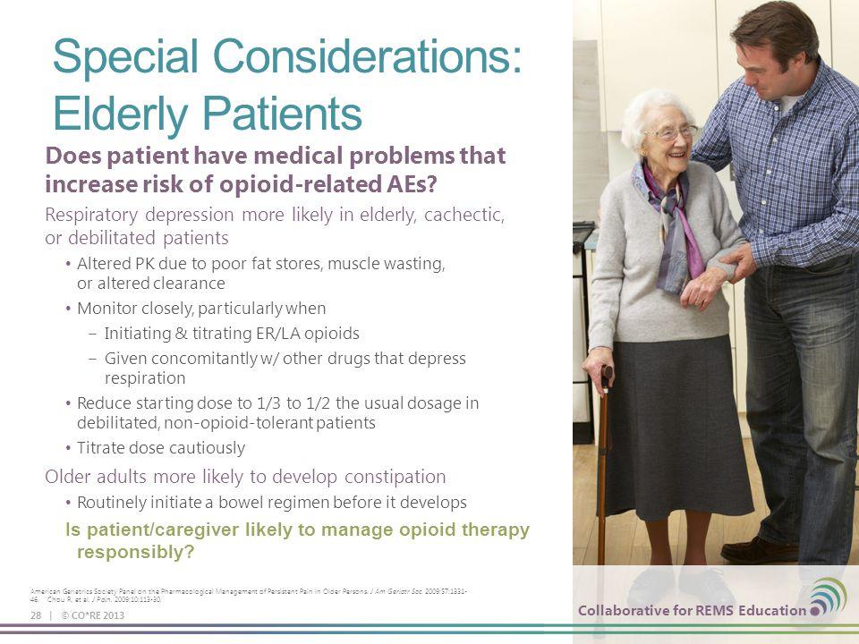 Special Considerations: Elderly Patients