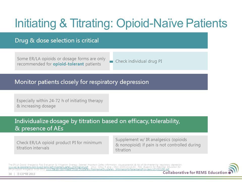 Initiating & Titrating: Opioid-Naïve Patients