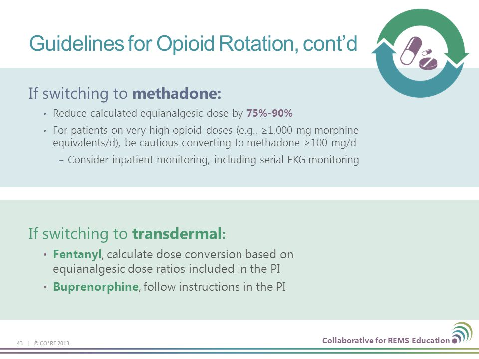 Guidelines for Opioid Rotation, cont'd