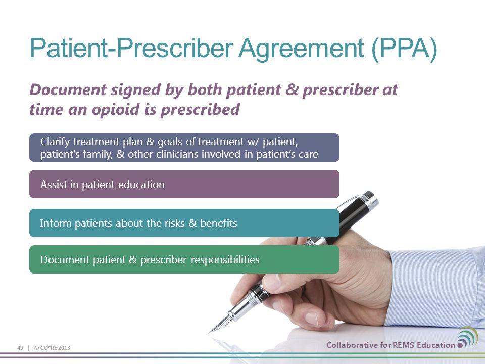 Patient-Prescriber Agreement (PPA)