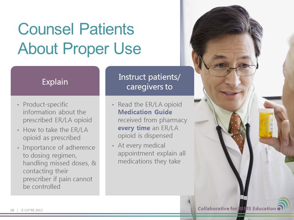 Counsel Patients About Proper Use