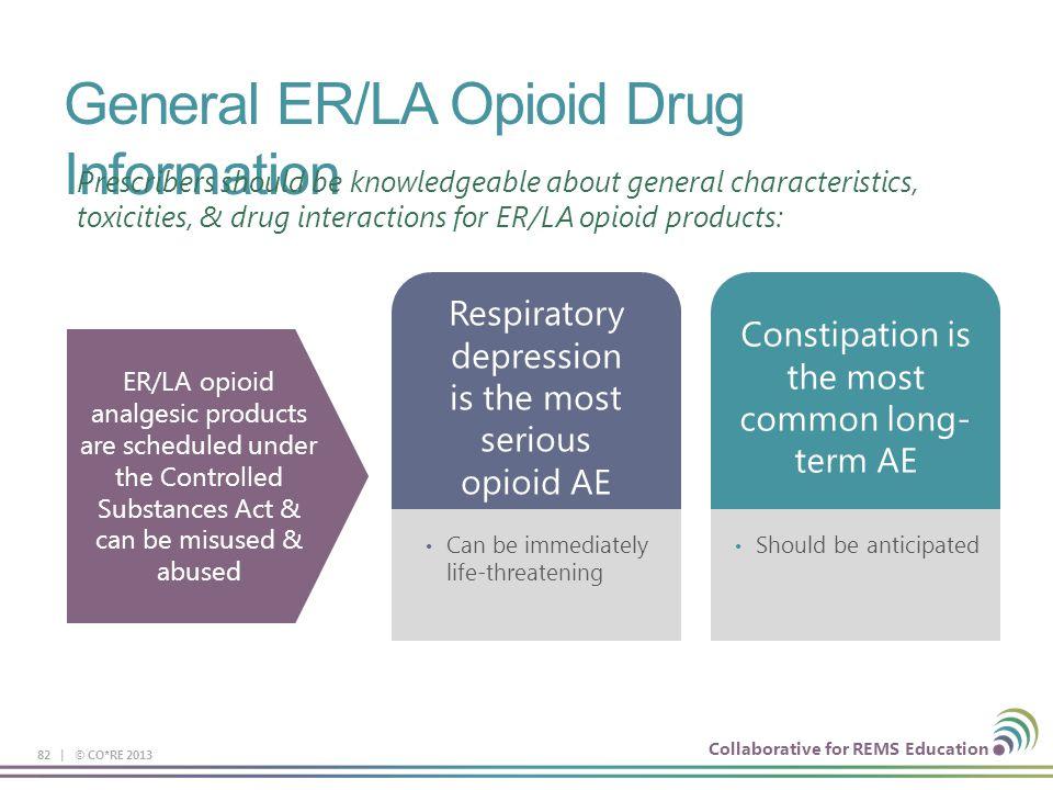 General ER/LA Opioid Drug Information